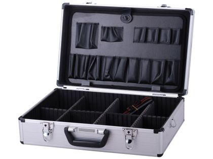 Walizka aluminiowa narzędziowa z organizerem