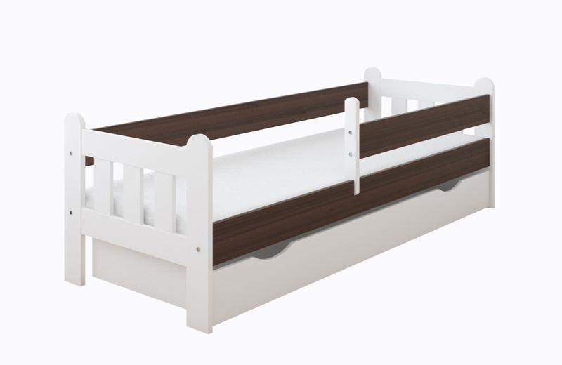 Łóżko STAŚ 140 x 70 z szufladą + barierka ochronna + MATERAC GRATIS zdjęcie 8