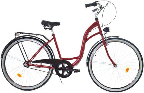 """Rower Dallas City 28"""" 3spd - czerwony z czarnym"""