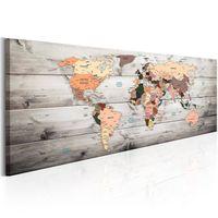 Obraz - Mapy świata: Drewniane podróże