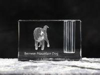 Berneński pies pasterski - kryształowy stojak na długopis z wizerunkiem psa, pamiątka, dekoracja, kolekcja.