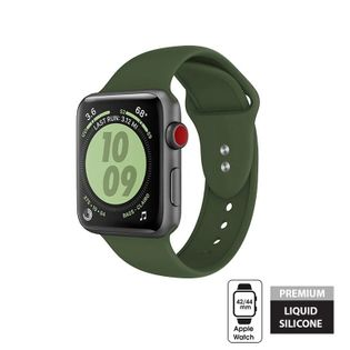 Crong Liquid Band - Pasek do Apple Watch 42/44 mm (zielony)