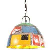 Industrialna lampa wisząca, 25 W, kolorowa, okrągła, 31 cm, E27