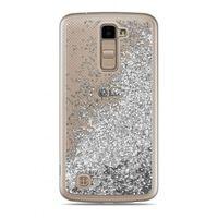 Etui Nakładka Płynny Brokat  LG K10 Srebrny