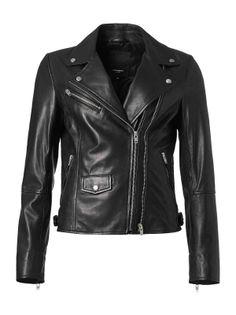 ROCKANDBLUE MARY - Damska kurtka skórzana w stylu ramoneska w kolorze czarnym 34