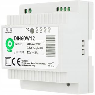 Zasilacz do taśm LED na szynę DIN 5A 60W 12V