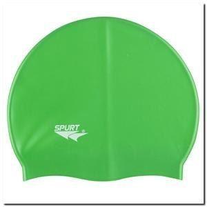 Czepek pływacki silikonowy zielony SPURT elastyczny i wytrzymały uniwersalny z opakowaniem ABI na Arena.pl