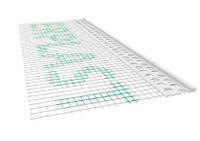 Listwa PCV zakończeniowa z siatką 100x3mm 2,5mb - pakiet 50szt.