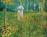 Reprodukcja Van Gogh - Kobieta w ogrodzie 40x60cm