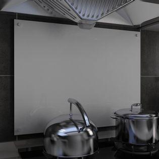 Lumarko Panel ochronny do kuchni, biały, 80x60 cm, szkło hartowane