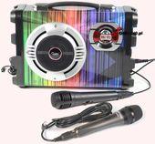 GŁOŚNIK BOOMBOX 7w 1 USB MP3 KARAOKE BLUETOOTH 2xmik FM