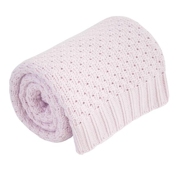 Effiki - Kocyk różowy 100% bawełny zdjęcie 1