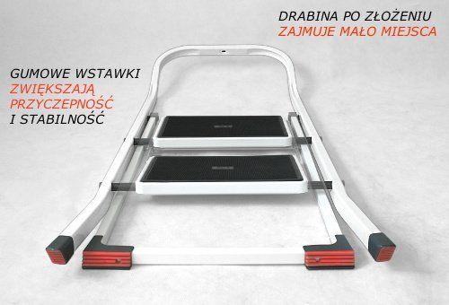 Drabinka 2 stopniowa z certyfikatem DEKRA do domu sklepu i biura na Arena.pl