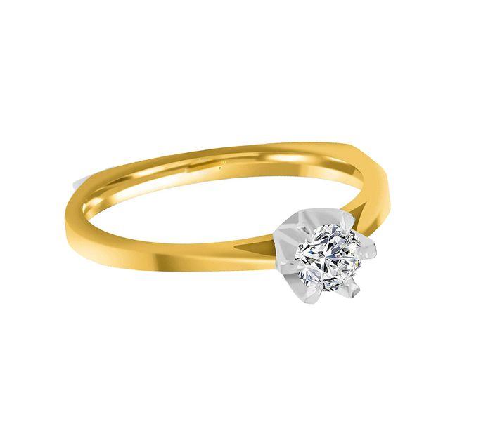 Pierścionek zaręczynowy z BRYLANTEM 0,20 ct Si1/H zdjęcie 3