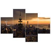 ZEGAR  Miasto Nowy Jork o świcie 120x80
