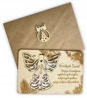 Pocztówka kartka prezent ozdoba na choinkę+