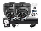 Zestaw do monitoringu: BCS-XVR0401+ 2x Kamera BCS-DMQE3200IR3+ Dysk 1TB + Akcesoria