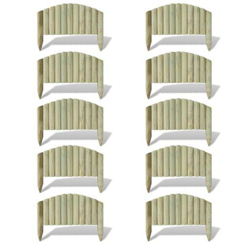 Obrzeże drewniane, 10 paneli, drewno, 55 cm na Arena.pl