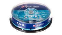 Płyta Cd-R Verbatim 700Mb X52 Extra Prot /cake 10Szt./