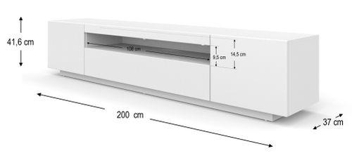 Szafka RTV 200 cm stojąca biały mat na Arena.pl