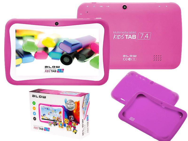 Tablet edukacyjny dla dzieci BLOW KIDS + gry + zestaw - różowy zdjęcie 1