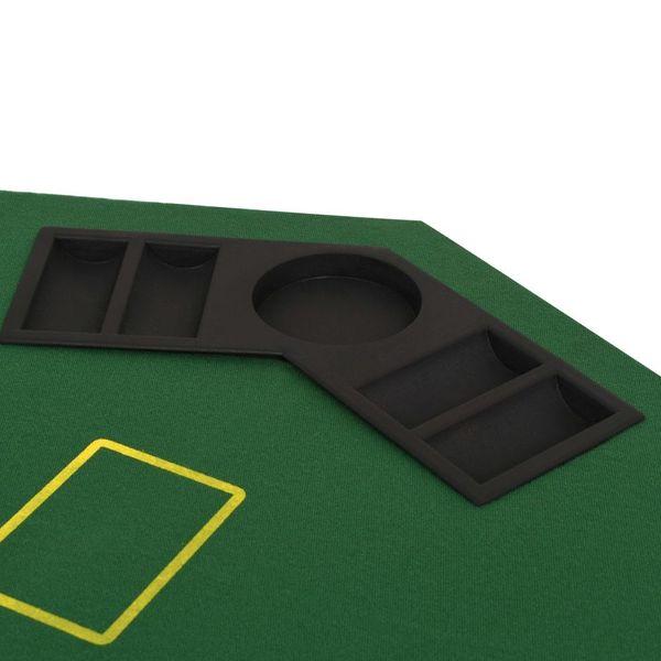 Składany blat do pokera dla 8 graczy, ośmiokątny, zielony zdjęcie 5