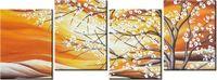 45cm 120 obraz 4 elem Kwitnące drzewo ścienny druk cyfrowy