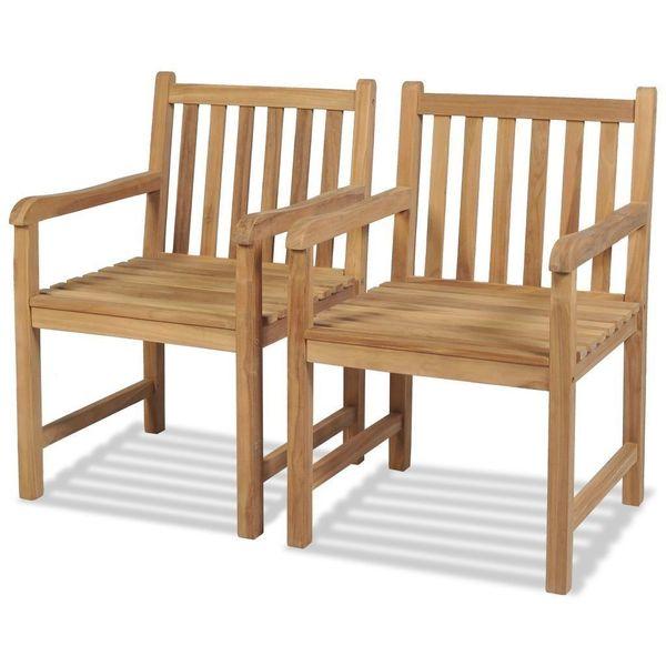 Krzesło Krzesła Ogrodowe Drewniane 2 Sztuki