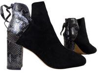 Czarne botki damskie na słupku buty damskie 39