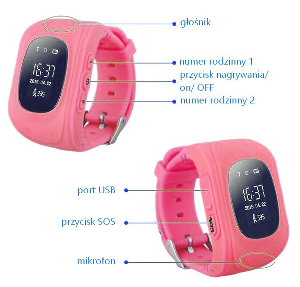 SmartWatch zegarek dla dzieci z lokalizatorem GPS SIM T266 zdjęcie 5