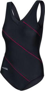 Kostium pływacki SOPHIE Roz.48-54 Rozmiar - Stroje damskie - 52(6XL), Kolor - Stroje damskie - Sophie - 16 - czarny / czerwony piping