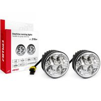 Światła do jazdy dziennej LED AMiO/NSSC 510HP, automat, okrągłe 7-9cm, 800Lm