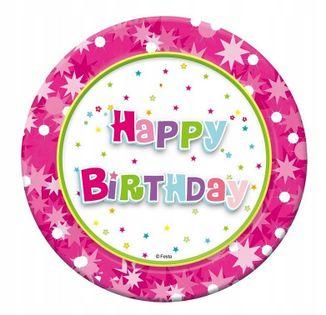 Talerzyki urodzinowe Happy Birthday Urodziny 6szt