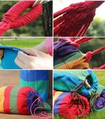 hamak dwuosobowy 220x160cm XXL ogrodowy kolory zdjęcie 3