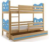 Łóżko dziecięce piętrowe meble dla dzieci drewniane MIKO 200x90+STELAŻ