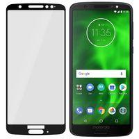 Motorola Moto G6 - Niepękające szkło hybrydowe na cały ekran 3mk FlexibleGlass Max - Czarny