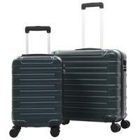 Zestaw twardych walizek 2 szt. zielone ABS VidaXL