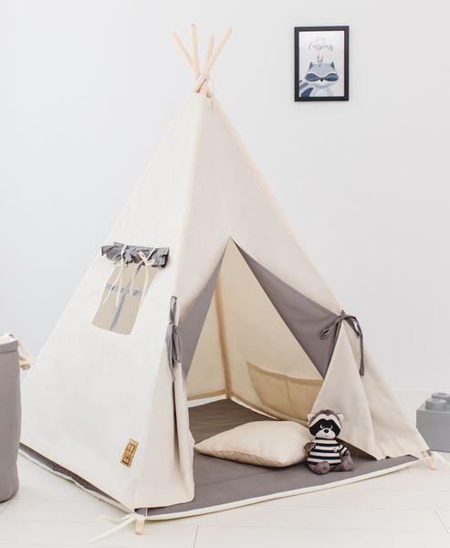 Namiot tipi dla dziecka Naturalna Szarość - zestaw mini zdjęcie 3