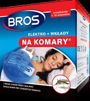 Bros Elektro +  10 Wkładów  Na Komary