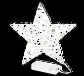 Biała gwiazda podświetlana z diodami LED 20 cm