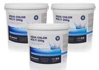Chlor Multifunkcyjny do basenu tabletki 200g 3 x 5 kg