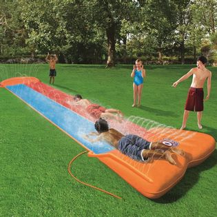Lumarko H2OGO Zjeżdżalnia wodna Double Slide, 52255!