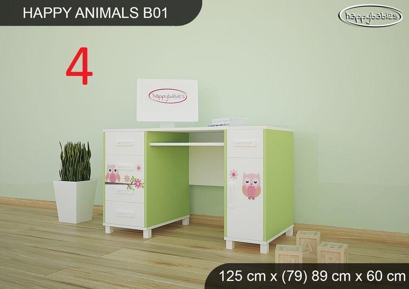 BIURKO DZIECIĘCE  HAPPY ANIMALS B01 AM01 Zielone zdjęcie 18
