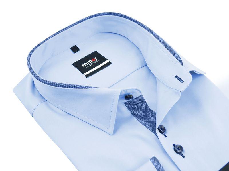 Błękitna koszula męska Mmer z obszyciami 888 Rozmiar koszuli i fason - 176-182 / 42-Regular na Arena.pl