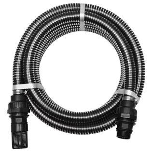 Wąż ssący ze złączkami, 7 m, 22 mm, czarny