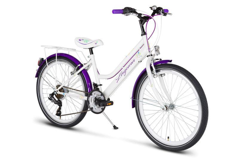 Rower 24 KANDS LAGUNA VS-2 stożek biało-fioletowy zdjęcie 2