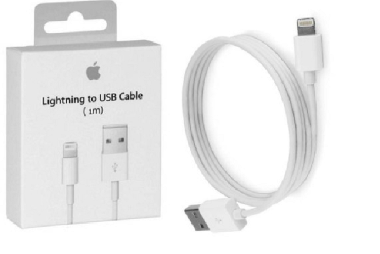 ORYGINALNY KABEL iPhone X 8 plus 8 7 plus 7 6s 6 5s 5c 5 iPad 1 metr zdjęcie 1