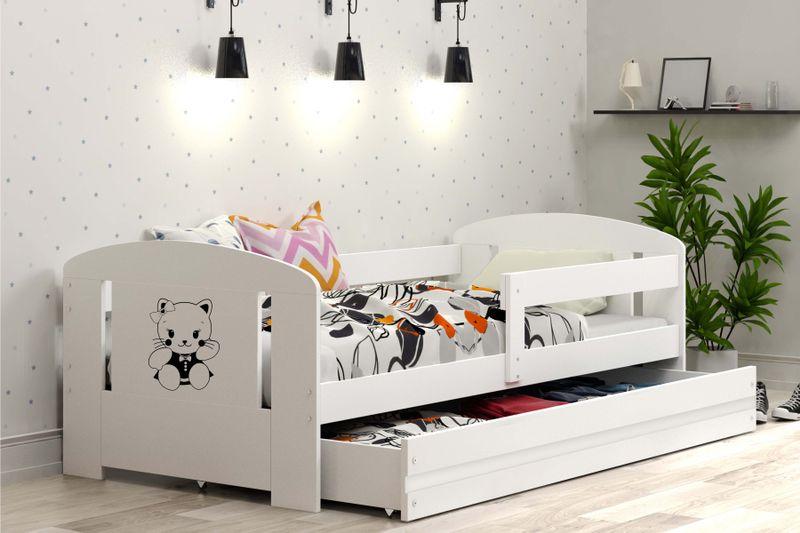 Łóżko pojedyncze FILIP 160x80 dla dzieci + SZUFLADA + BARIERKA zdjęcie 5