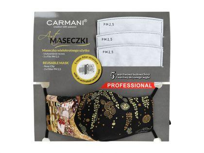 Maseczka ochronna z filtrem - G. Klimt. Pocałunek (CARMANI)