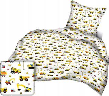 Pościel 100x160 Dziecięca Koparki Maszyny Budowa